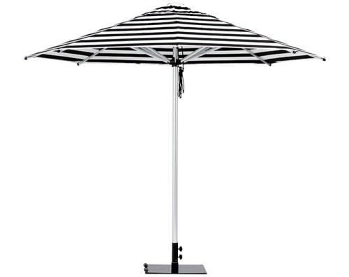 Monaco Outdoor Umbrella Black White Stripe