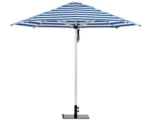Monaco Outdoor Umbrella Blue White Stripe