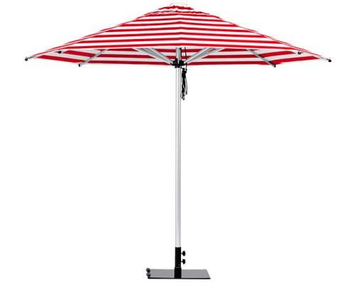 Monaco Outdoor Umbrella Red White Stripe