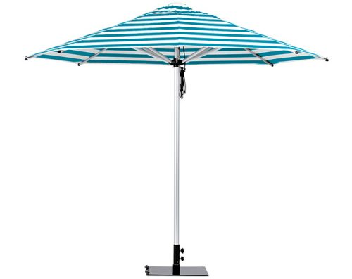 Monaco Outdoor Umbrella Turquiose White Stripe