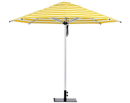 Monaco Outdoor Umbrella Yellow White Stripe