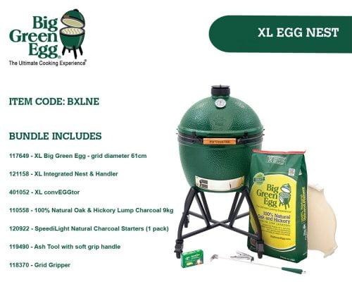 Big Green Egg XLarge Integrated Nest Bundle