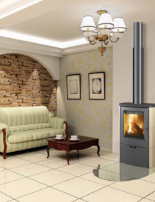 Euro Fireplaces Falun Ceramc Wood Heater