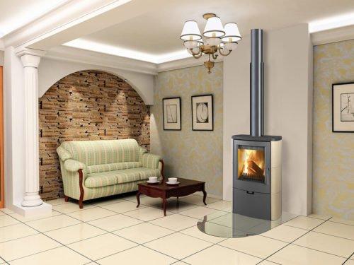 Euro Fireplaces Falun Ceramc Wood Heater