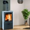 Euro Fireplaces Falun Serpentino Wood Heater