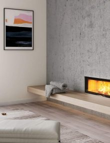 ADF Linea 100 Duo Insert Fireplace