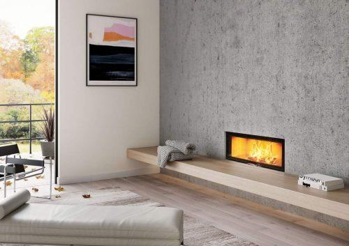 ADF Linea 100 Duo Insert Fireplace