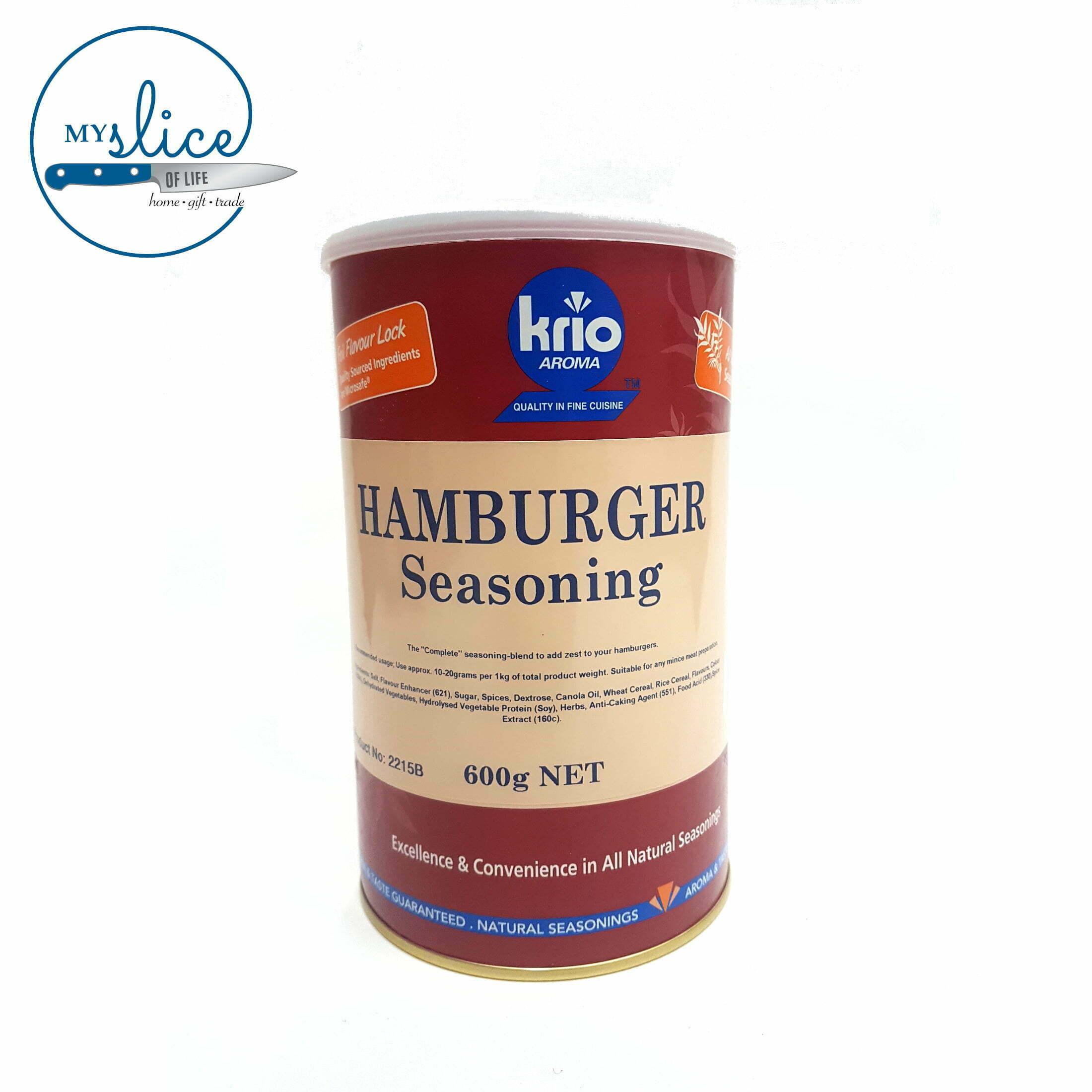 Krio Hamburger Seasoning 600g Canister My Slice Of Life