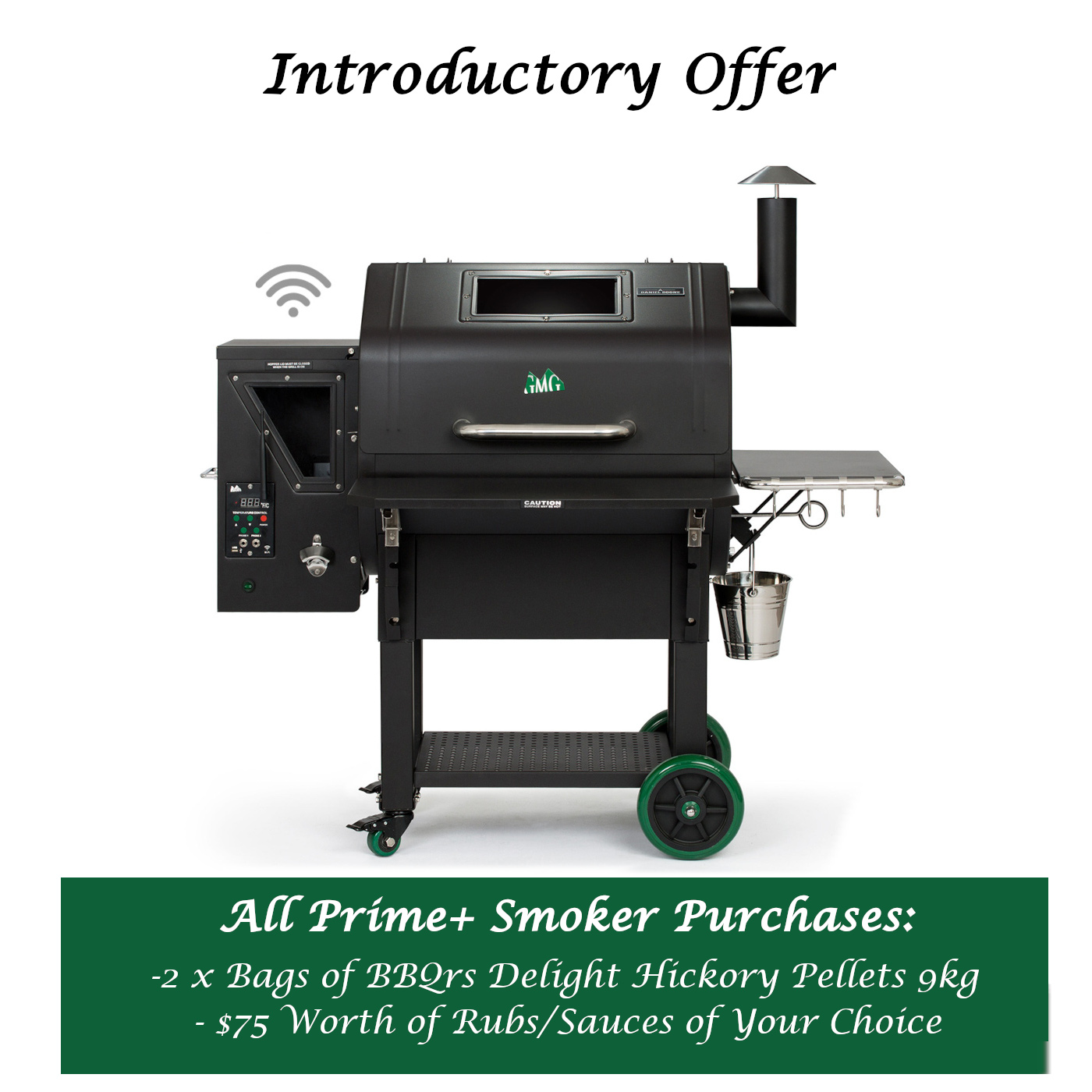 Green Mountain Grills Prime Plus Smoker - $75 Worth of Rubs/Sauces of Your Choice