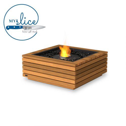 Ecosmart Fire Base 30 Fireplace Teak (Black Burner)