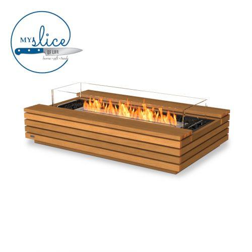 Ecosmart Fire Cosmo Fireplace Teak