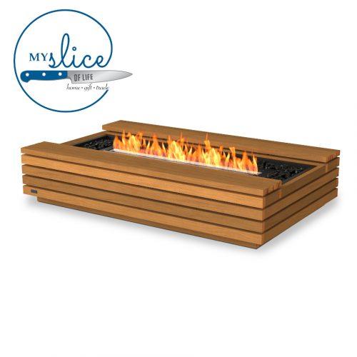 Ecosmart Fire Cosmo Fireplace Teak (Black Burner)