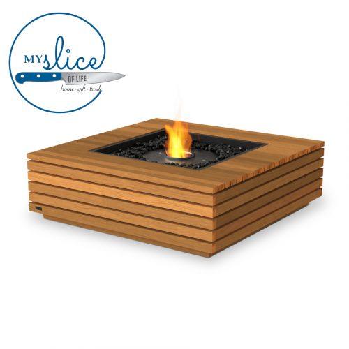 Ecosmart Fire Ethanol Base 40 Fireplace Teak (Black Burner)