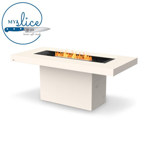 Ecosmart Fire Gin 90 Bar Fireplace Bone (Black Burner)