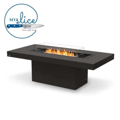 Ecosmart Fire Gin 90 Dining Fireplace Graphite