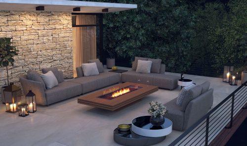Ecosmart Fire Gin 90 Low Fireplace Install