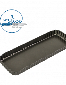 Bakemaster fluted rectangular quiche pan