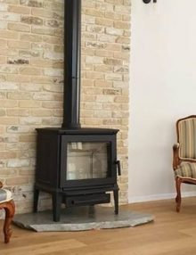 Hergom E-30M Freestanding Wood Fireplace