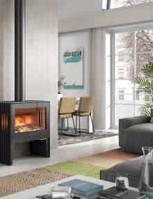 Hergom Glance L Freestanding Wood Fireplace