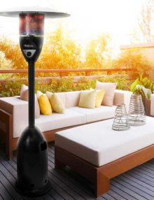 Gasmate Stellar Black Deluxe Patio Heater